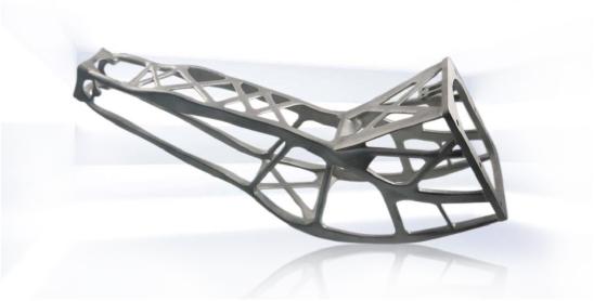 3D printed Antenna Bracket for a Sentinel-1-Satellite. Image: RUAG